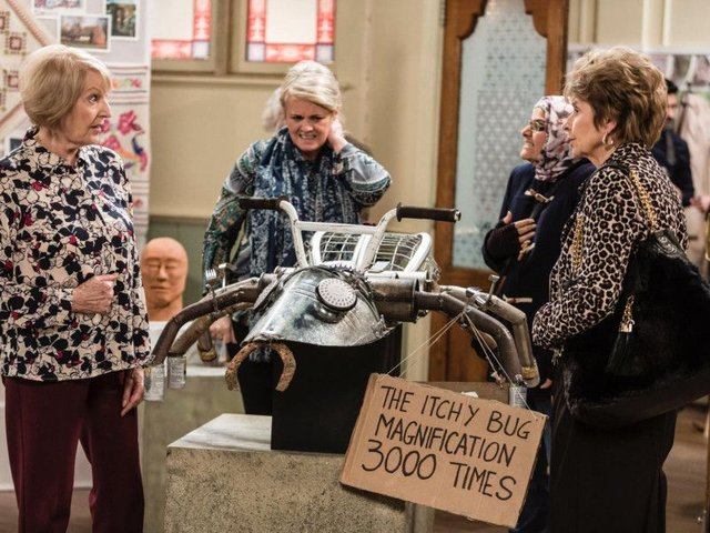 The Itchy Bug sculpture which featured in Still Open All Hours.