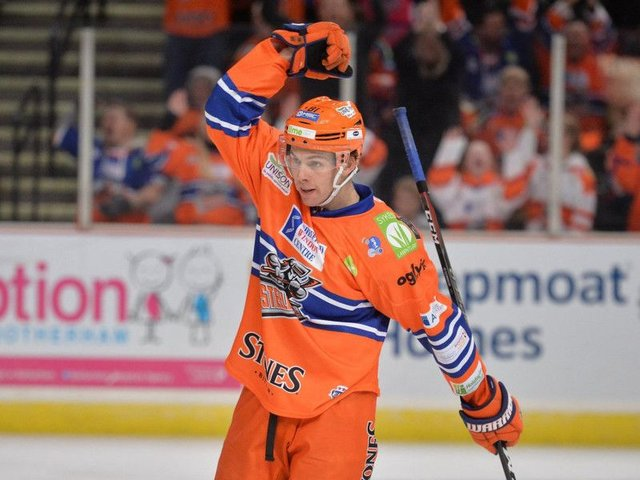 STAND FIRM: Ben O'Connor is keen for Sheffield Steelers to push Cardiff Devils a lot closer than in previous encounters between the two teams this season. Picture: Dean Woolley.