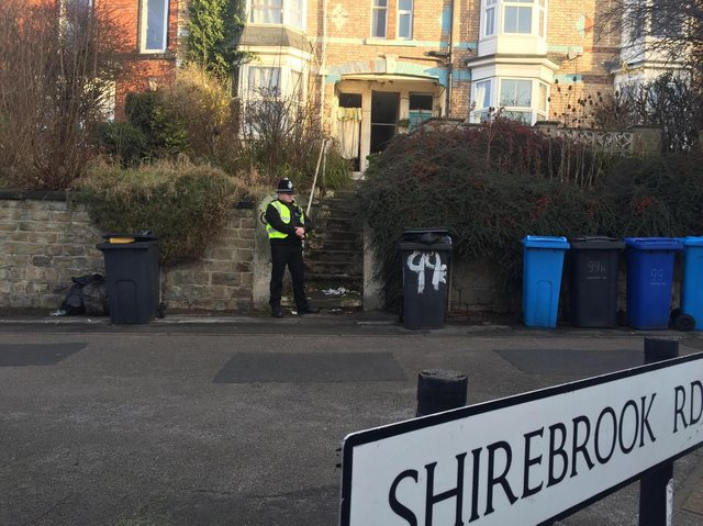 A house was raided in Shirebrook Road, Meersbrook, this morning