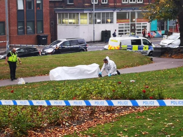 A knife has been found at a Leeds city centre park following a stabbing as the teenage victim becomes stable in hospital.