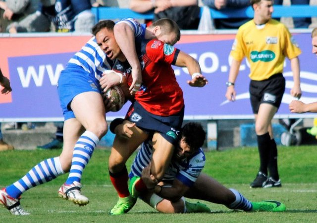 Action from Halifax v Featherstone on Sunday