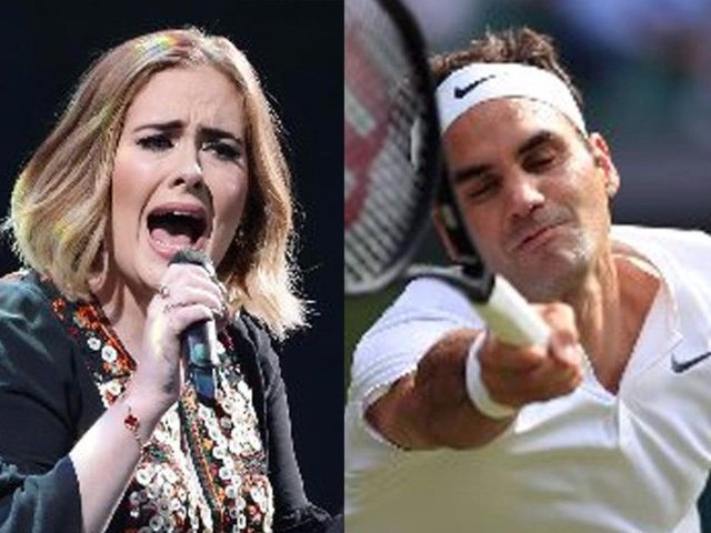 The Dowses didn't see Adele at all and caught only a brief glimpse of Federer
