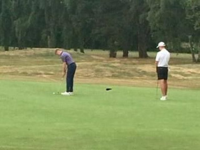 George Robson had a share of sixth place after the opening round of the Carris Trophy on his home course of Fulford.