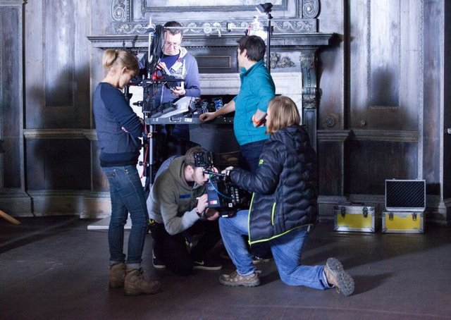 A ground-breaking initiative to establish a network of centres of excellence for film and television in the nations and regions will be piloted in Yorkshire. Pictured, attendees on a training scheme ran by Screen Yorkshire.