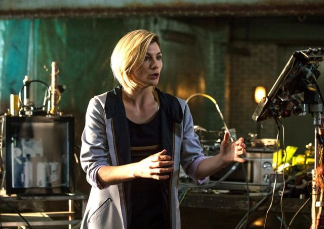 Jodie Whittaker in the first episode of Doctor Who, series 11. (C) BBC / BBC Studios - Photographer: Sophie Mutevelian