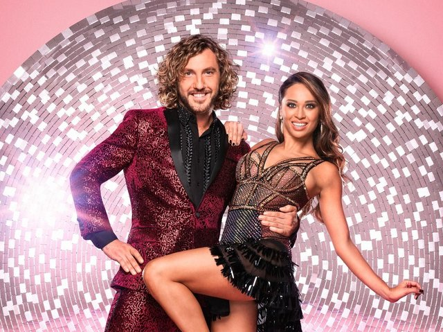 Seann Walsh and dancing partner Katya Jones who were photographed kissing.
