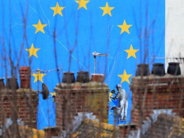 A view of the Brexit-inspired mural by artist Banksy in Dover, Kent, as MPs are preparing to vote on whether to back Prime Minister Theresa May's deal for leaving the European Union. PRESS ASSOCIATION Photo.