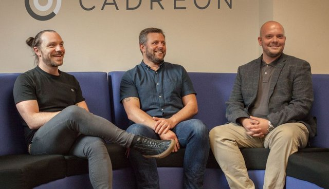 Members of the new Cadreon team in Leeds, (Left to right) Mike McDougall, Steve Lee and Tony Booth