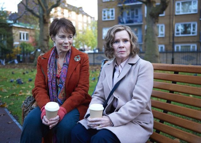 Celia Imrie as Bif and Imelda Staunton as Sandra in Finding Your Feet. PA Photo/Entertainment One.