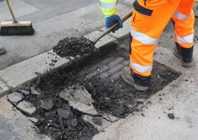 Leeds City Council is accused of wasting money when potholes need repairing.
