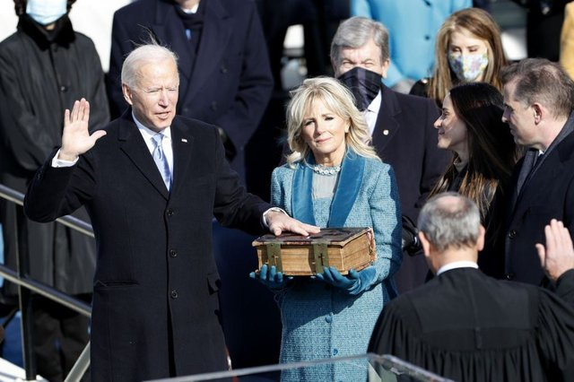 Joe Biden was sworn in as president on January 20 (Getty Images)