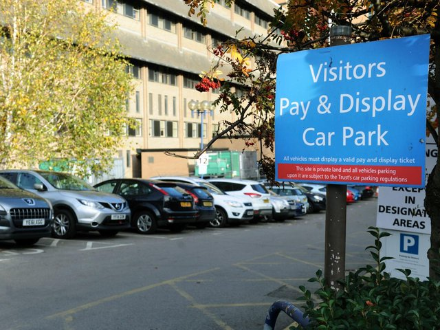 The car park at Leeds General Infirmary.