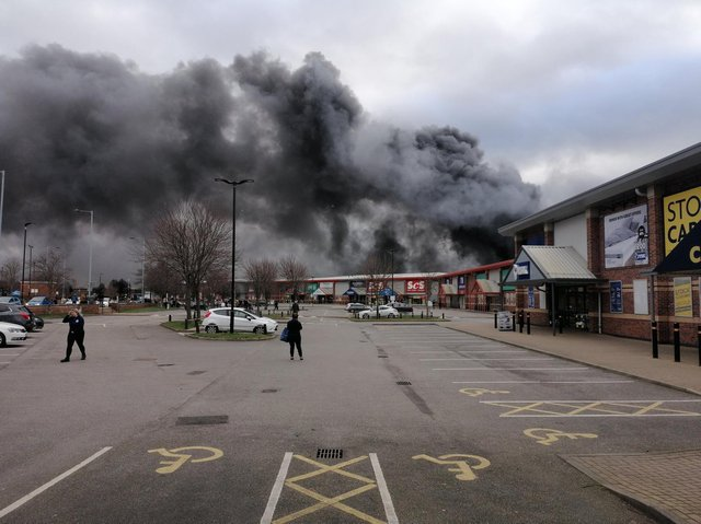 A witness described hearing 'explosions' from the fire (Photo: YorkshireDaveUK)