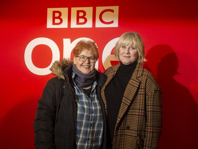 Screen writer Sally Wainright, pictured left next to Sarah Lancashire, grew up in Sowerby Bridge, where parts of Last Tango in Halifax and Happy Valley were filmed.