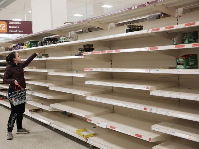 Shoppers have been clearing the shelves of goods in the wake of the coronavirus crisis. Credit: Dan Kitwood/Getty Images