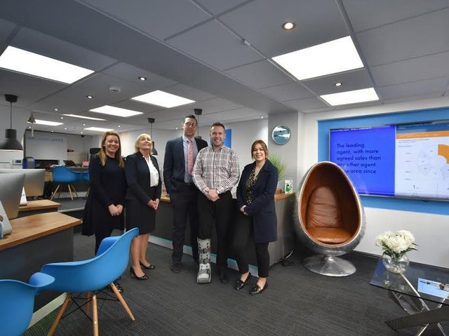 Hendersons colleagues: Izzy Jowsey, Karin Henderson, Martin Thistle, Nick Henderson and Claire Coughlan