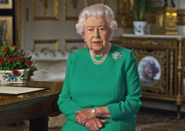 The Queen addressed the nation last night from Windsor Castle.