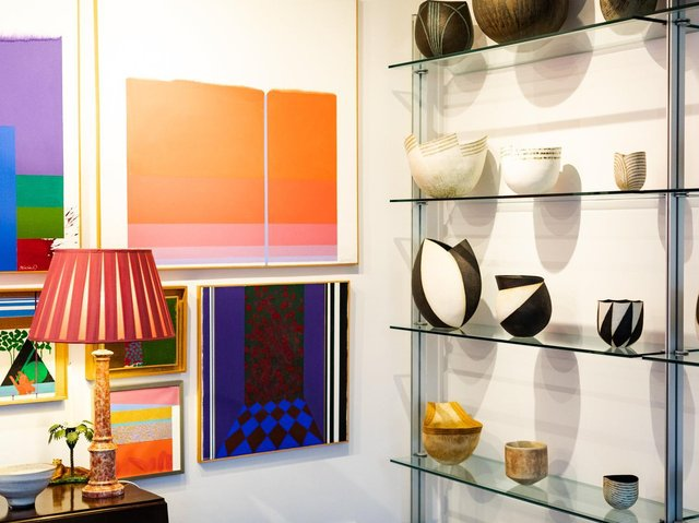 Some of the works pictured in the couple's Yorkshire home. Picture:  Nick Singleton