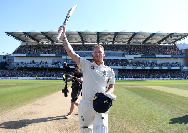Hero: Ben Stokes performed Ashes heroics on Andy Fogarty's Headingley pitch. Picture: Gareth Copley/Getty Images