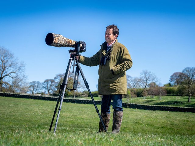 David Hill who has curlews on his land and is part of the Partnership organising the Curlew Conservation Project.