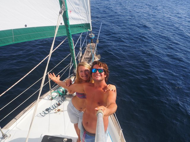 Adam and Emily, from Skipton, have spent the lockdown trapped on their 38ft sailboat moored in a Greek boatyard