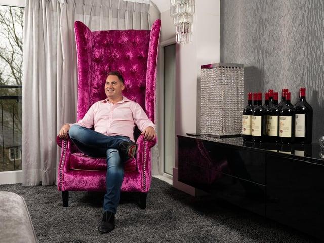 Matt Haycox at his home in Leeds