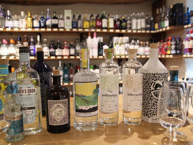 SPIRIT OF ENTERPRISE: Add a bottle of gin to your order at the Wright Wine Company.
