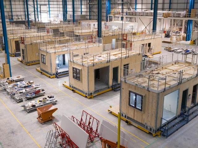 L&G's modular homes factory in Sherburn-in-Elmet