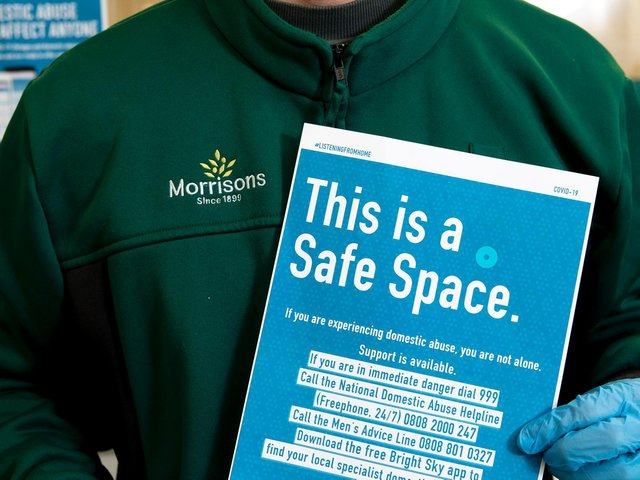 Morrisons is the first supermarket to offer a safe space where victims of domestic abuse can contact support services.