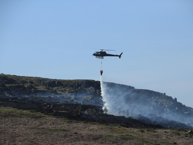A wildfire on Ilkley Moor over Easter 2019