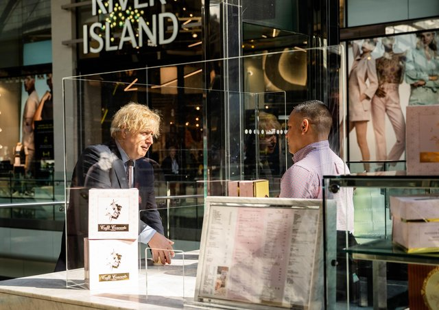 Boris Johnson makred the reopening of non-essential stores with a visit to a London shopping centre last Sunday.