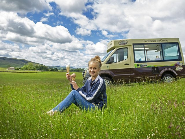 Ellie Coultherd, whose partner's family own Yorkshire Dales Ice Cream near Skipton. Picture Tony Johnson