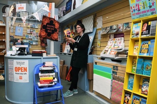 Georgia Eckert, owner of the Imagined Things bookshop in Harrogate.  Picture: Jonathan Gawthorpe