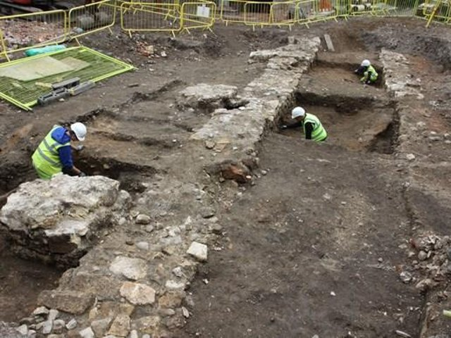 Archaeology work is ongoing at the Guildhill site as it undergoes a 20m renovation.