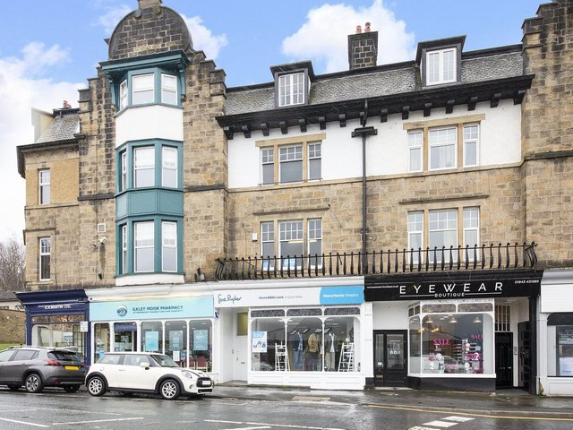 This shop set over five floors in Ilkley is 400,000 with hunters.com and has potential for conversion.