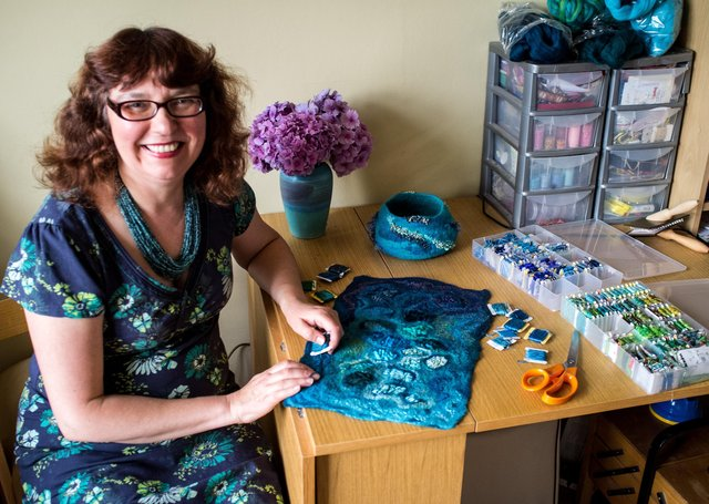 Tatile artist Cathy Needham from York is appearing on the BBC programme Home is Where the Art Is next week