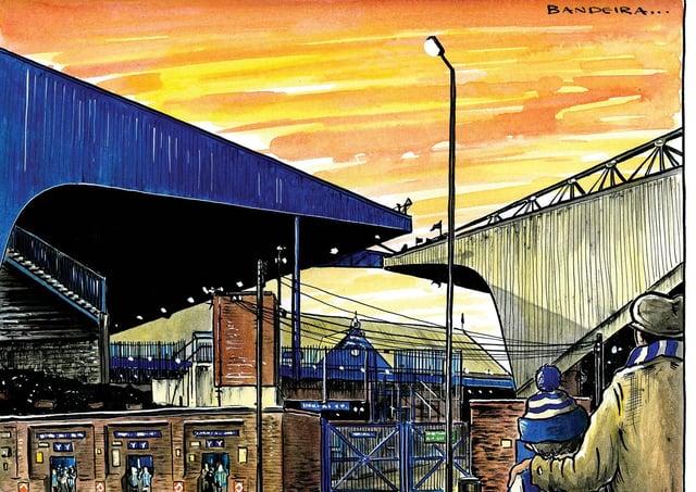 Hillsborough football stadium, home of Sheffield Wednesday (Illustration: Graeme Bandeira)