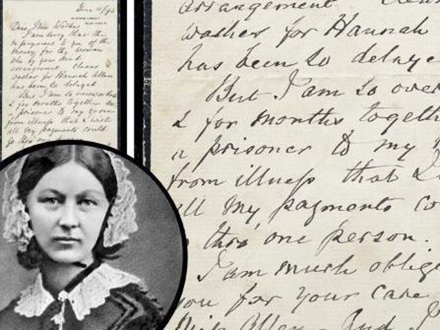 Letters written by Florence Nightingale are to go under the hammer