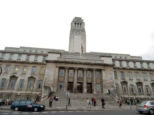 The University of Leeds' Parkinson Building. Picture: Tony Johnson.