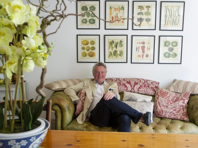 Tim Hogarth at his home in Queensbury