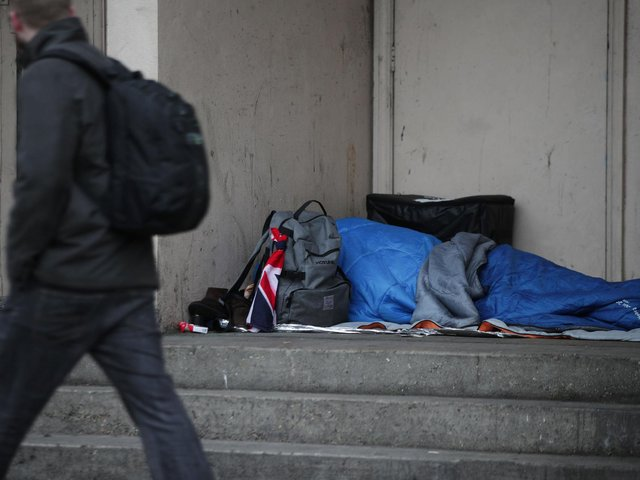 The Government provided councils with funding to provide emergency accommodation to 15,000 rough sleepers earlier in the year. Picture: Yui Mok/PA