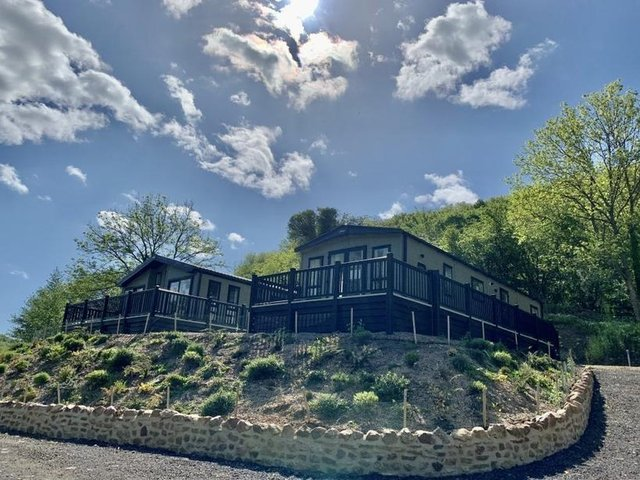 Holiday lodges at Swaleview Park, near Richmond