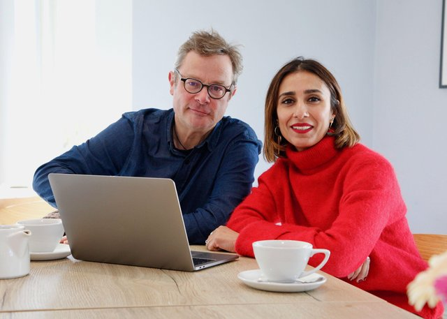 Anita Rani and Hugh Fearnley-Whittingstall in War On Plastic. Picture: PA Photo/BBC/Keo Films/Jacky Sloane.