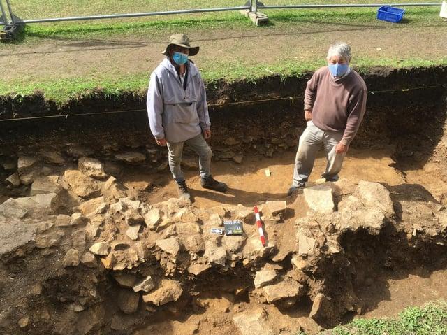 Archaeologists Dr Peter Halkon and James Lyall