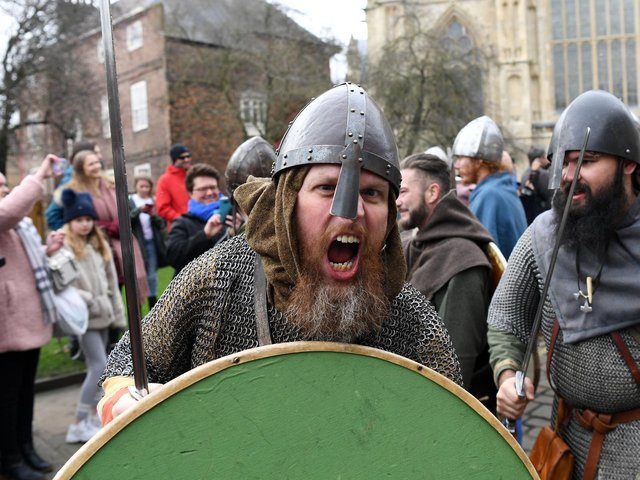 Jorvik Viking Festival in York. Image: Jonathan Gawthorpe.