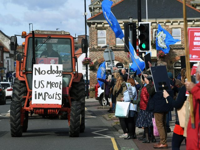 Save British Farming protest on Northallerton High Street Picture: Jonathan Gawthorpe