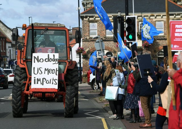 This was the Save British Farming protest in Northallerton last Friday. Photo: Jonathan Gawthorpe.