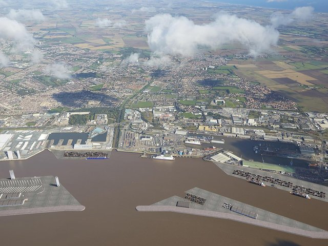 An aerial view of Hull