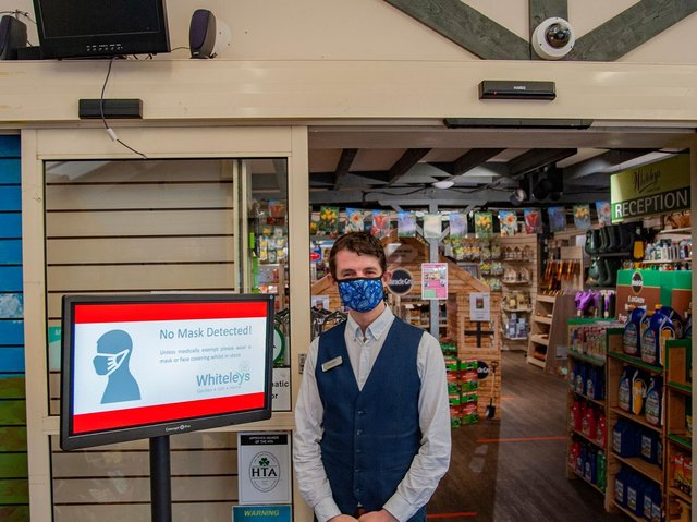 An award-winning garden centre in the heart of Yorkshire, Whiteleys, has invested in market-leading face-covering detection technology to protect its employees and customers following the Governments announcement of increased restrictions on face coverings in shops, with customers facing increased fines if they do not comply. cc Karol Marketing Group