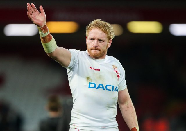 THE SWEETEST MOMENT: England's James Graham celebrates an emotional series-clinching win against New Zealand at Anfield in 2018. Picture by Alex Whitehead/SWpix.com